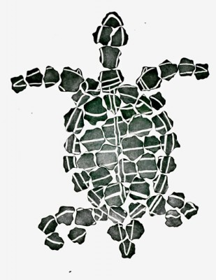 Dennis Nona, Waru Kulal (Turtle Rocks), Torres Strait Islander art