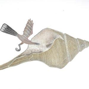 Dennis Nona, Bu Ka Palgie (Shell and Bird), Torres Strait Islander art