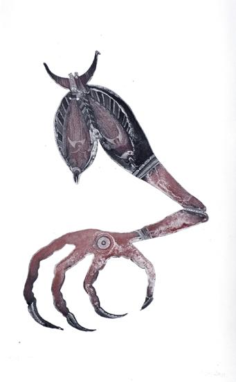 Dennis Nona, Surrk Au Ngarr (Bush Turkey Leg), Torres Strait Islander art