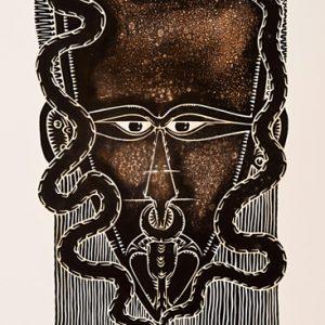 Alick Tipoti, Thabudh - Like a Snake, Torres Strait Islander art