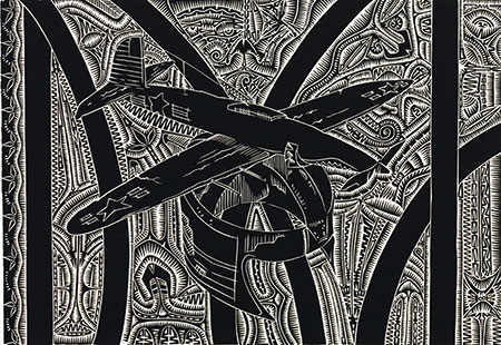 Brian Robinson, And they flew from the airfield at Ngurupail, Torres Strait Islander art