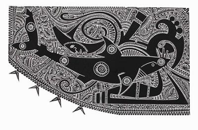 Brian Robinson, Baidam Thithuyil, Torres Strait Islander art