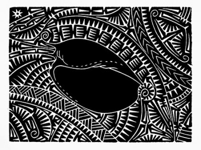 Brian Robinson, Baler Shell Motif, Torres Strait Islander art
