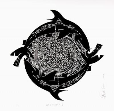 Brian Robinson, Malu Mandala I, Torres Strait Islander art