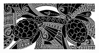 Brian Robinson, Waterworld of the Waru, Torres Strait Islander art