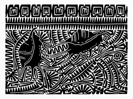 Brian Robinson, Spider Conch Motif, Torres Strait Islander art