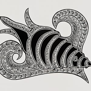 Joel Sam, Bu - Trumpet Shell, Torres Strait Islander art