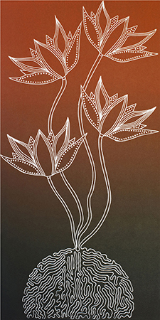 Lisa Michl (Ko-manggen), Lily Flower I, Aboriginal art