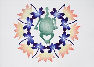 Lisa Michl (Ko-manggen), Gum Hole I, Aboriginal art