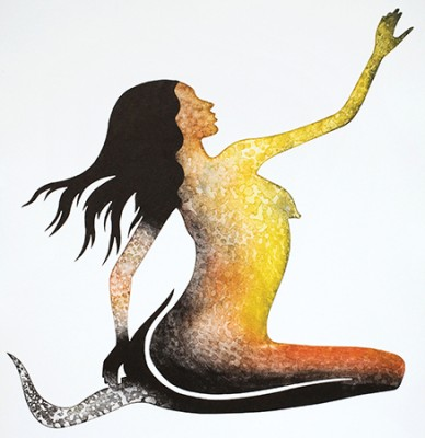 Lisa Michl (Ko-manggen), Water Fairy II, Aboriginal art