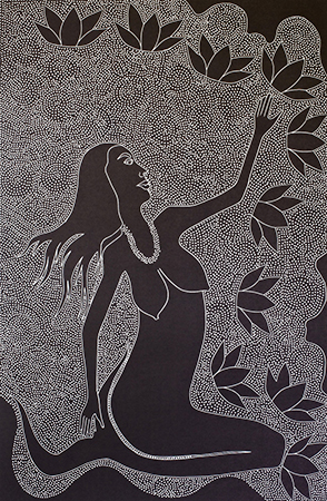Lisa Michl (Ko-manggen), Water Fairy I, Aboriginal art