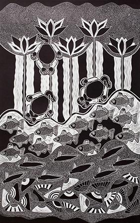 Lisa Michl (Ko-manggen), Freshwater I, Aboriginal art