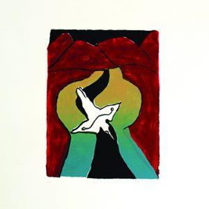 Daniel Beeron, Gijalordi bana boongan - Kingfisher making river, Aboriginal art
