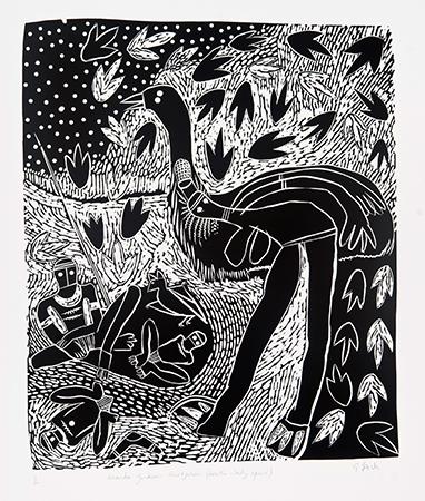 Gilbert Jack, Death Spirit, Aboriginal art
