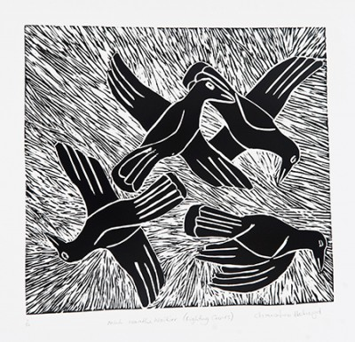 Christine Holroyd, Fighting Crows - Minh Waatha Waakarr, Aboriginal art