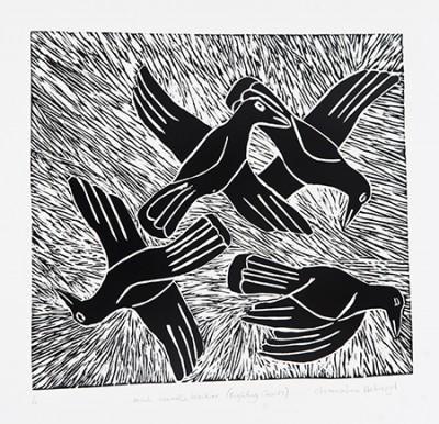 Christine Holroyd, Fighting Crows - Minh Waatha Waakarr, Aboriginal art