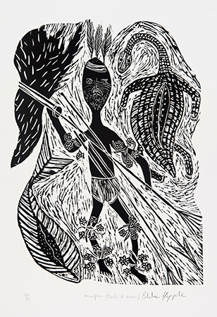 Eddie Kepple, Orchid Man, Aboriginal art