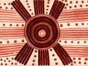 David Ross (Pwerle), Morning Star, Aboriginal art