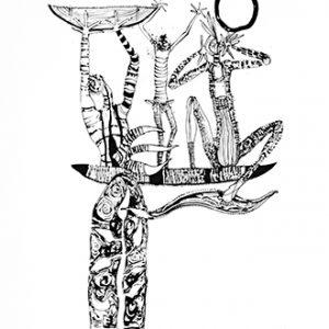 Arone Meeks, Boat People, Aboriginal art