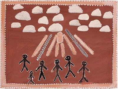 Queenie McKenzie, Jesus Over Texas, Aboriginal art