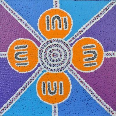 Gloria Napangardi Gill, Ngurlu Jukurrpa - Native Seed Dreaming, Aboriginal art