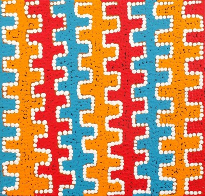 Gloria Napangardi Gill, Mina Mina Jukurrpa - Mina Mina Dreaming - Ngalyipi, Aboriginal art
