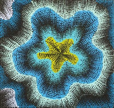Elizabeth Napaljarri Katakarinja, Jujutuma Jukurrpa - Caterpillar Dreaming, Aboriginal art