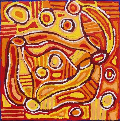 Louise Napangardi Dickson, Mina Mina Jukurrpa - Mina Mina Dreaming - Ngalyip, Aboriginal art