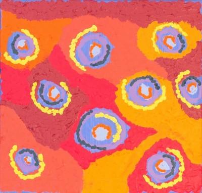 Saraeva Napangardi Marshall, Mina Mina Jukurrpa - Mina Mina Dreaming - Ngalyipi, Aboriginal art