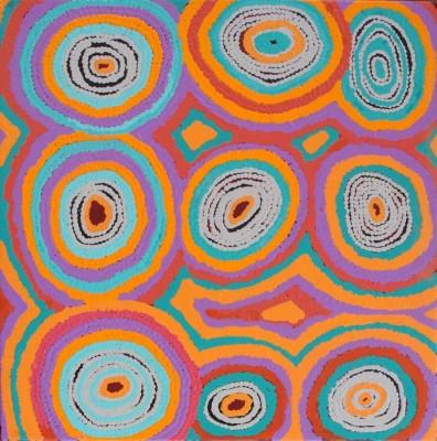 Nancy Napanagka Gibson, Mina Mina Jukurrpa - Mina Mina Dreaming - Ngalyipi, Aboriginal art