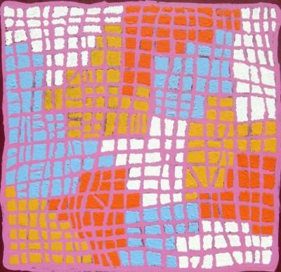 Ena Nakamarra, Gibson, Ngapa Jukurrpa - Water Dreaming - Wapurtali, Aboriginal art