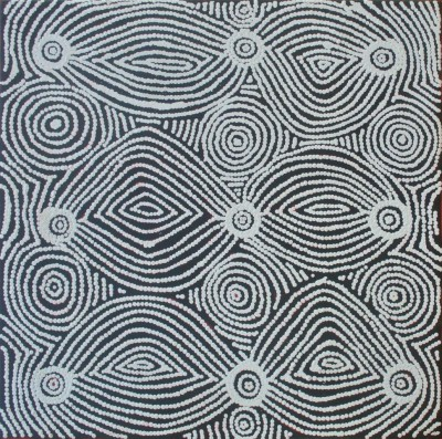 Mary Napangardi Gallagher, Mina Mina Jukurrpa - Mina Mina Dreaming - Ngalyipi, Aboriginal art