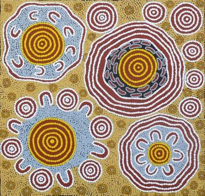 Ursula Napangardi Hudson, Pikilyi Jukurrpa - Vaughan Springs Dreaming, Aboriginal art
