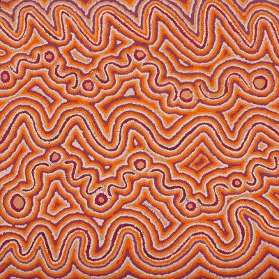Phyllis Napurrula Williams, Ngapa Jukurrpa - Water Dreaming - Pirlinyarnu, Aboriginal art