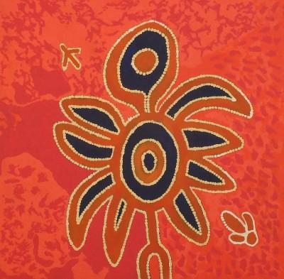 Curtis Jampijinpa Fry, Yankirri Jukurrpa - Emu Dreaming - Ngarlikurlangu, Aboriginal art
