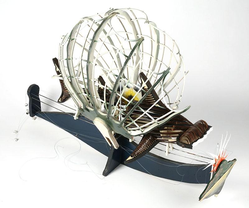 Ken Thaiday, Hammerhead Shark with Clam Shell, Torres Strait Islander art