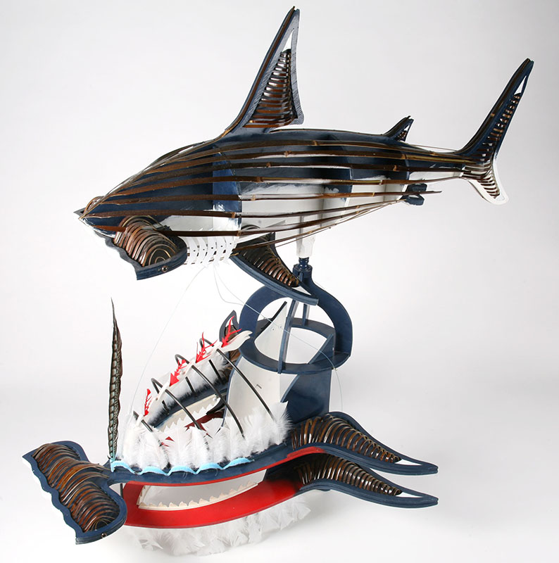 Ken Thaiday, Bamboo Hammerhead Shark Headdress, Torres Strait Islander art
