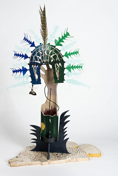 Ken Thaiday, Fish Trap and Sea Dari Headdress - Barramundi, Torres Strait Islander art