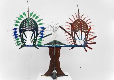 Ken Thaiday, Darnley Island with Dari Warrior Headdress and Torres Strait, Torres Strait Islander art