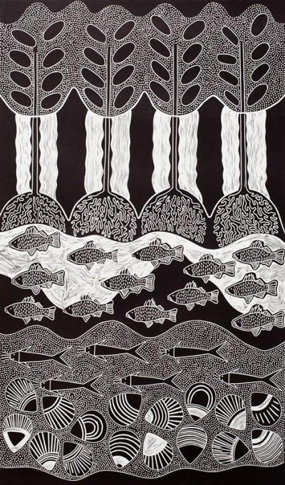Lisa Michl (Ko-manggen), Saltwater, Aboriginal art