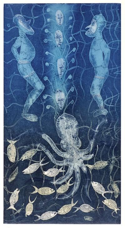 Dennis Nona, Octopus, Torres Strait Islander art