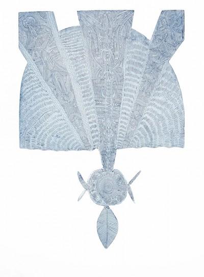 Dennis Nona, Gubau Zirul - Wind and Sunray, Torres Strait Islander art