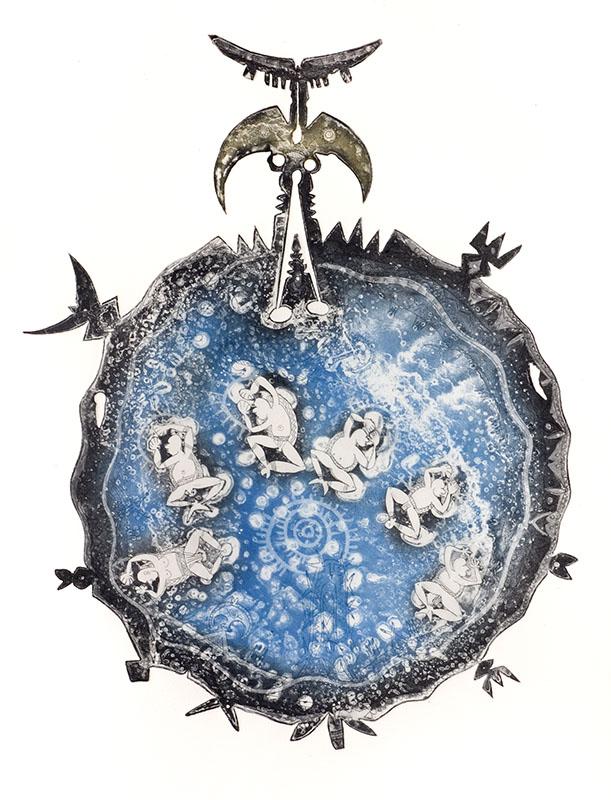 Dennis Nona, Wati Kisai - Bad Moon, Torres Strait Islander art
