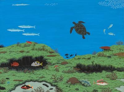 Segar Passi, Underwater, Torres Strait Islander art