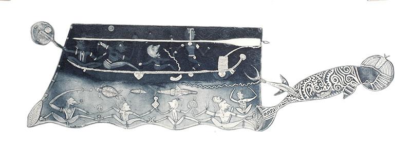 Dennis Nona, Gapu Dhangal I, Torres Strait Islander art