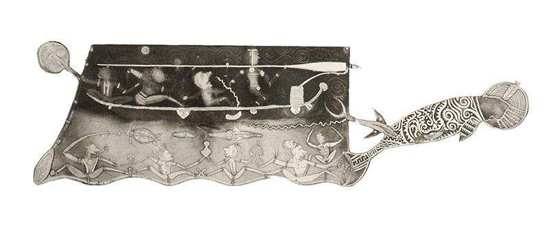 Dennis Nona, Gapu Dhangal II, Torres Strait Islander art