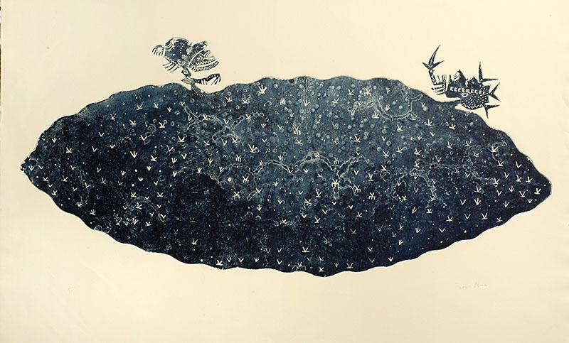 Dennis Nona, Sarawai II - Death Cloud, Torres Strait Islander art