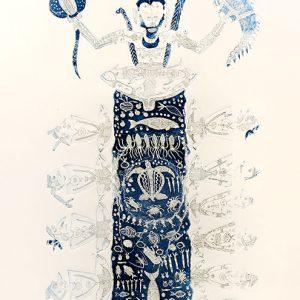 Dennis Nona, Mamoose – Chief Mamoose, Torres Strait Islander artTorres Strait Islander art, Dennis Nona, Mamoose – Chief Mamoose
