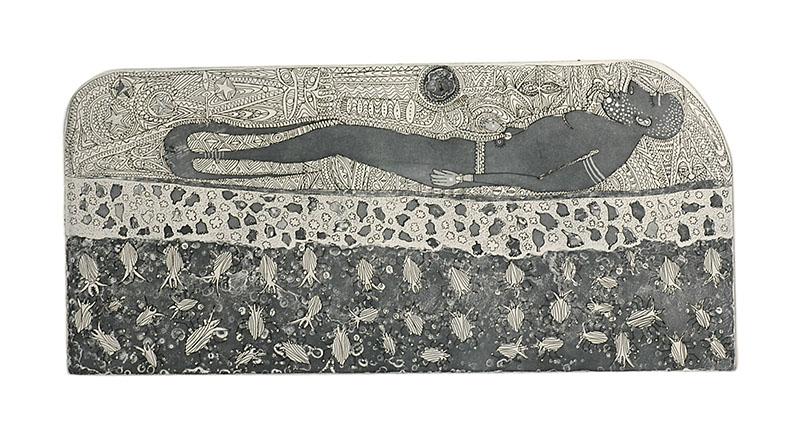 Dennis Nona, Wamadai I – Plant Medicine, Torres Strait Islander art