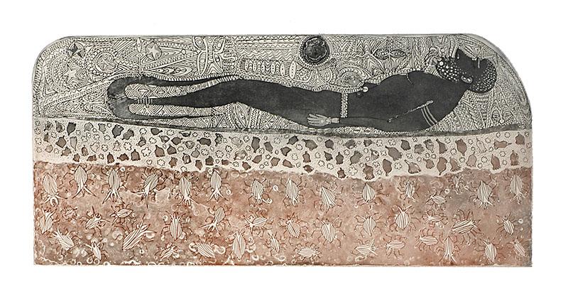Dennis Nona, Wamadai II – Plant Medicine, Torres Strait Islander art